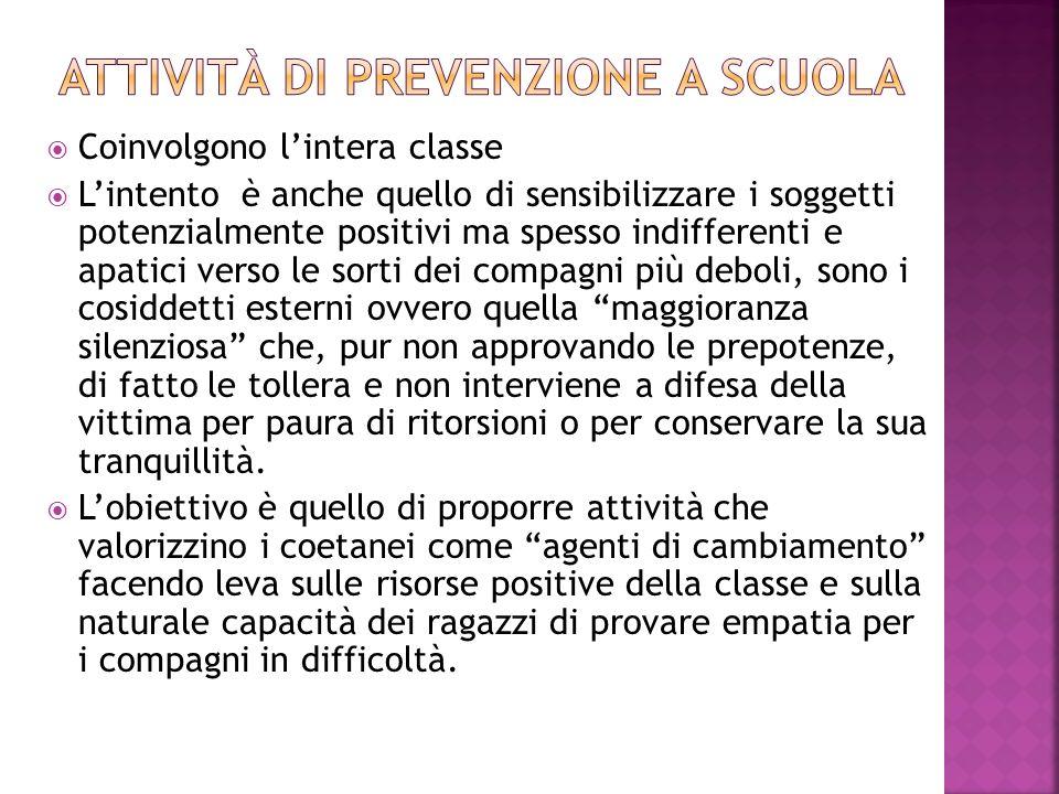 Attività di prevenzione a scuola