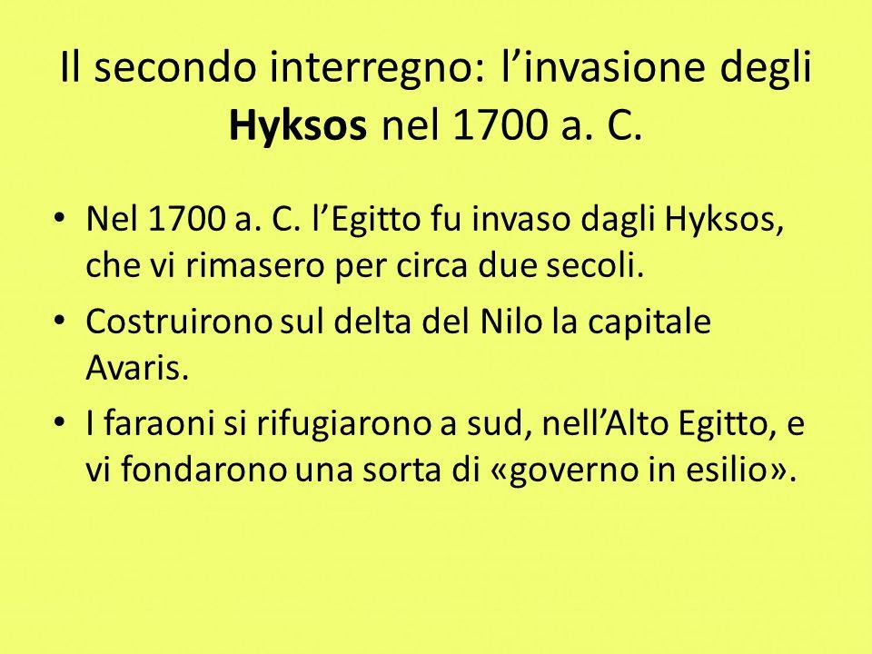 Il secondo interregno: l'invasione degli Hyksos nel 1700 a. C.
