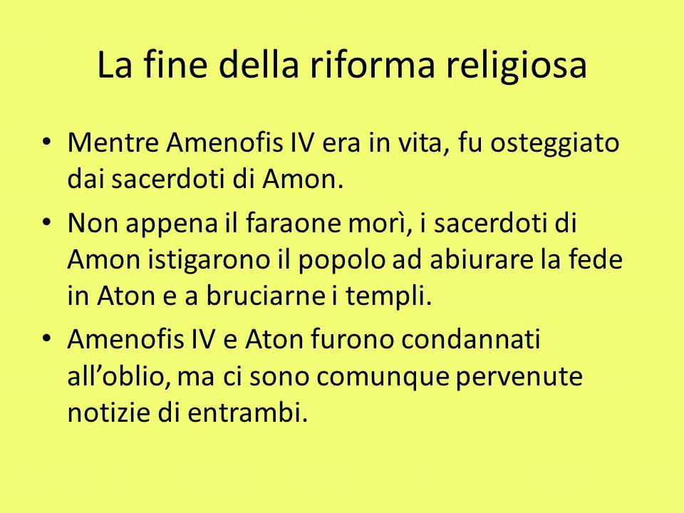 La fine della riforma religiosa