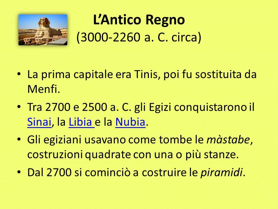 L'Antico Regno (3000-2260 a. C. circa)