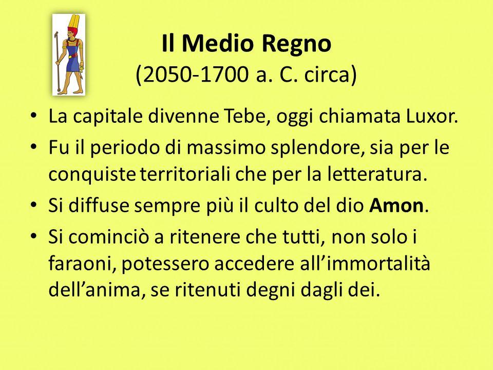 Il Medio Regno (2050-1700 a. C. circa)