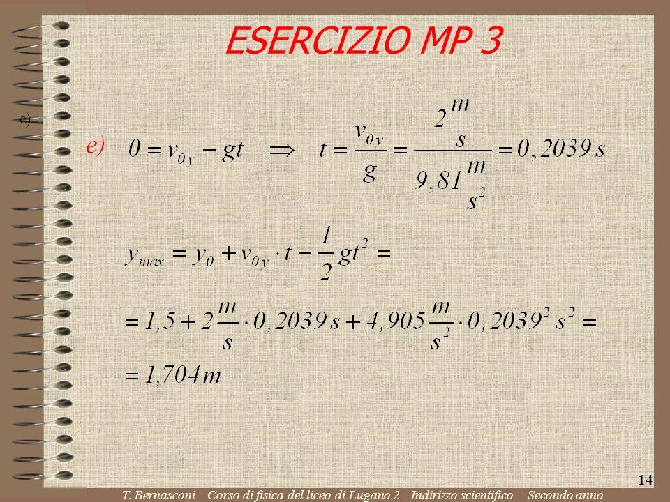 ESERCIZIO MP 3 e) 14. T.