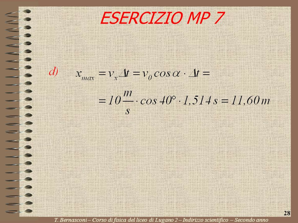 ESERCIZIO MP 7 28. T.