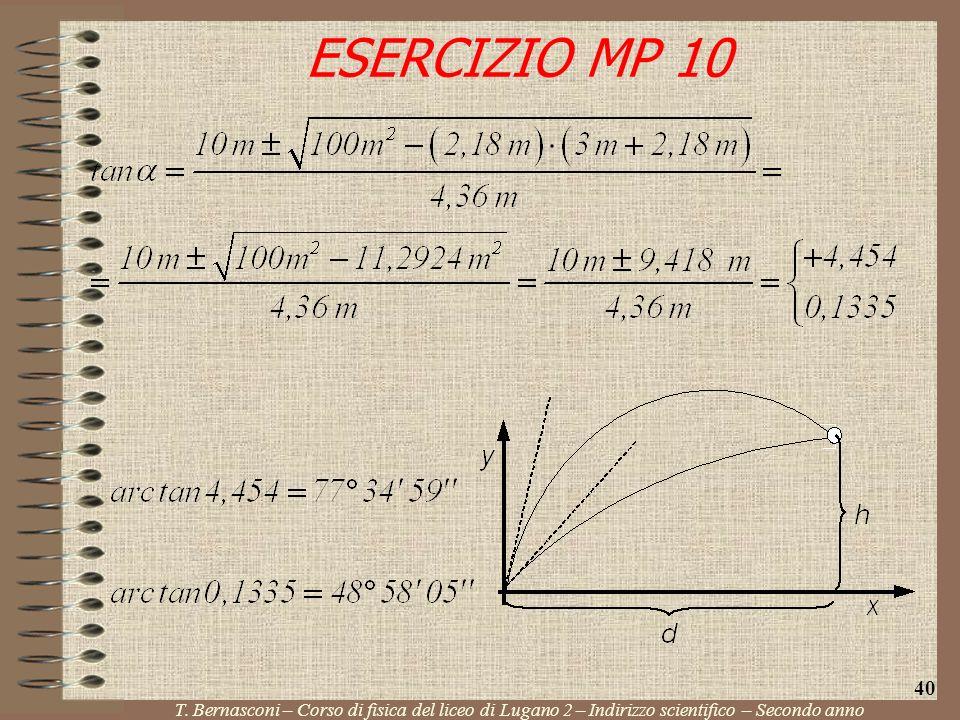 ESERCIZIO MP 10 40. T.