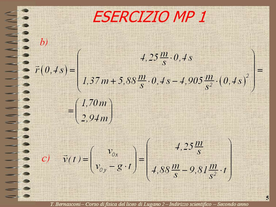 ESERCIZIO MP 1 5. T.