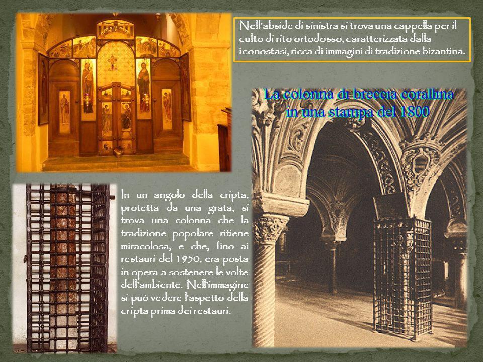 Nell'abside di sinistra si trova una cappella per il culto di rito ortodosso, caratterizzata dalla iconostasi, ricca di immagini di tradizione bizantina.