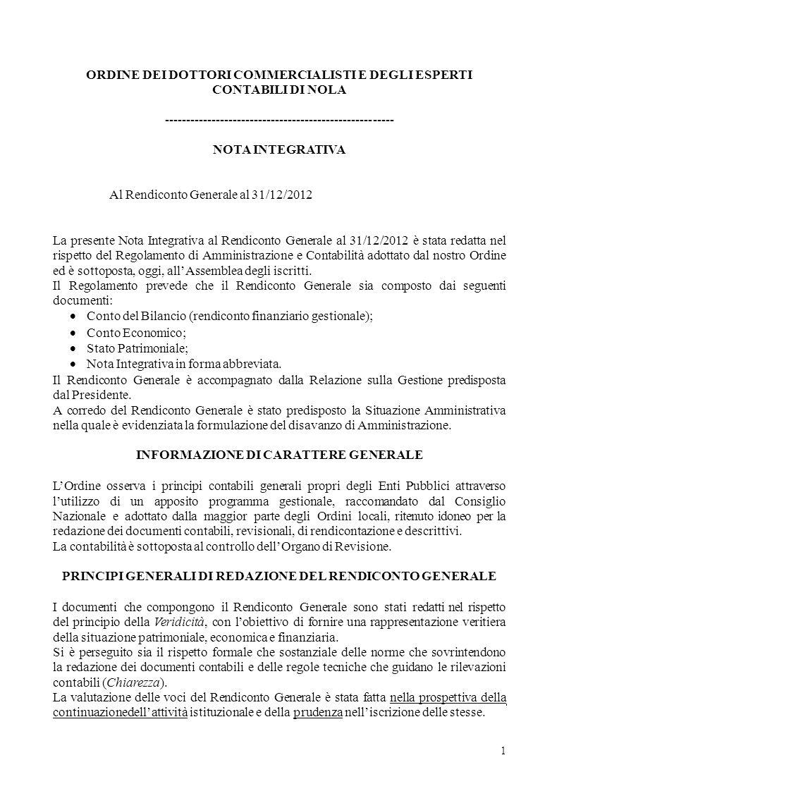 ORDINE DEI DOTTORI COMMERCIALISTI E DEGLI ESPERTI CONTABILI DI NOLA