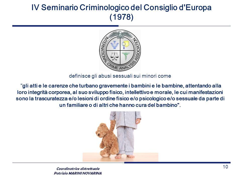 IV Seminario Criminologico del Consiglio d Europa (1978)