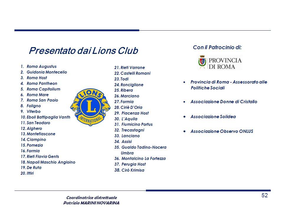 Presentato dai Lions Club