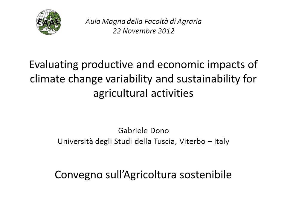 Convegno sull'Agricoltura sostenibile