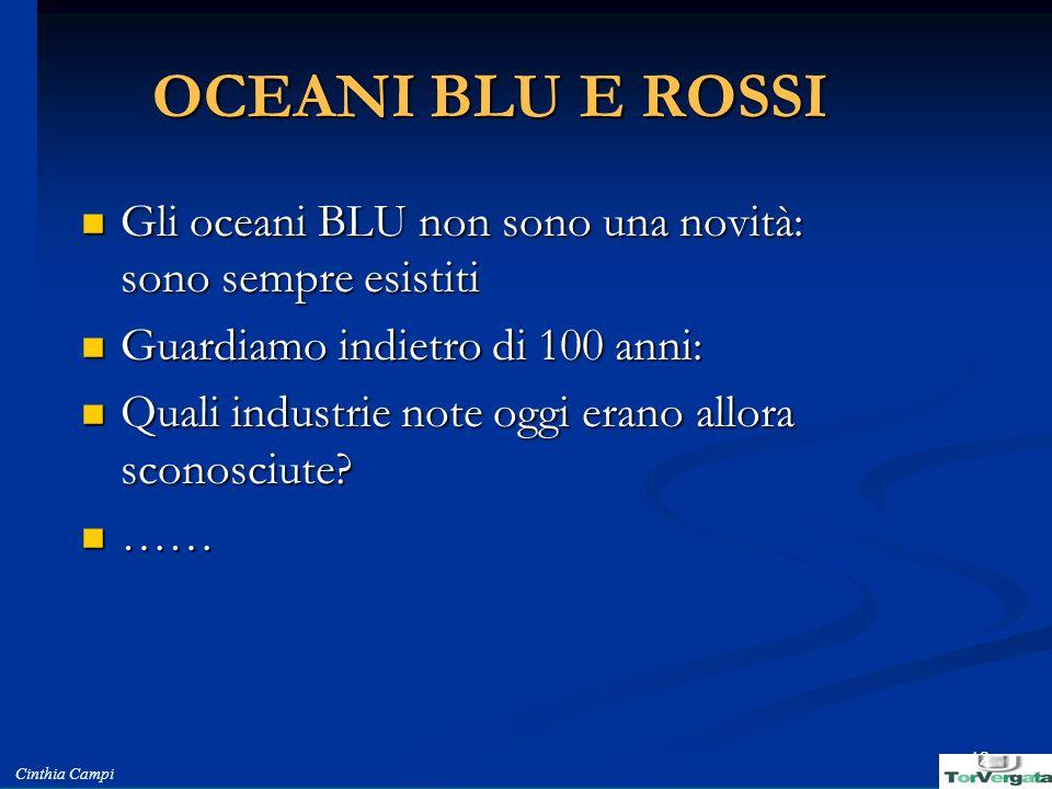 OCEANI BLU E ROSSI Gli oceani BLU non sono una novità: sono sempre esistiti. Guardiamo indietro di 100 anni: