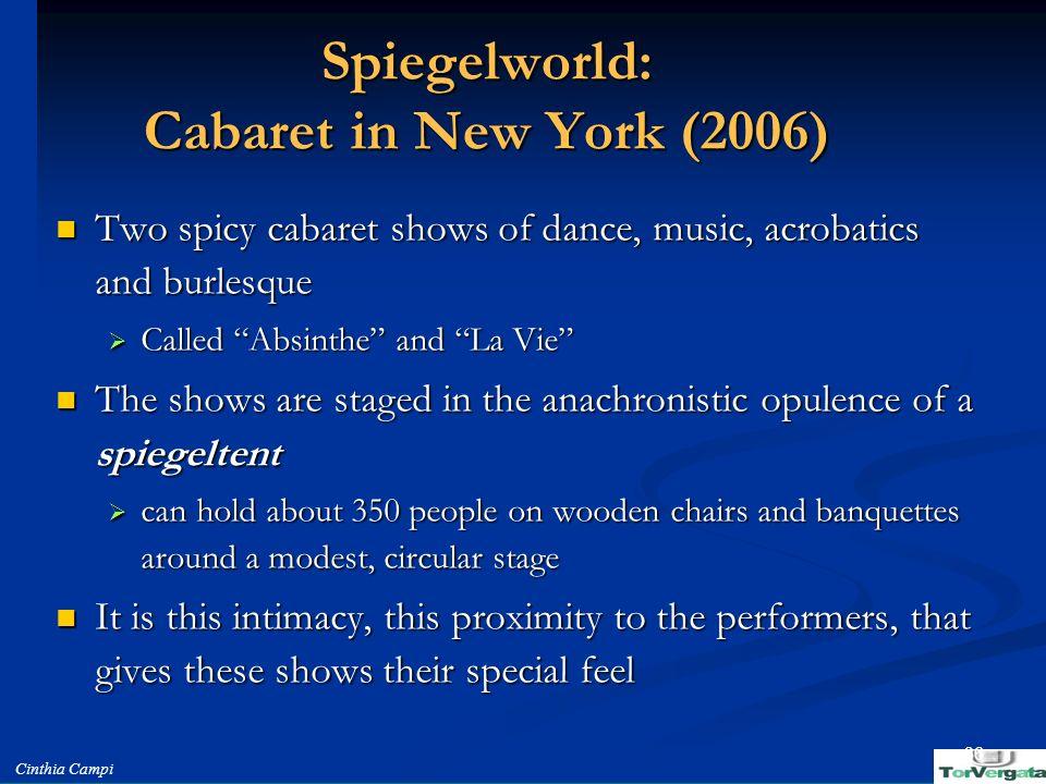 Spiegelworld: Cabaret in New York (2006)