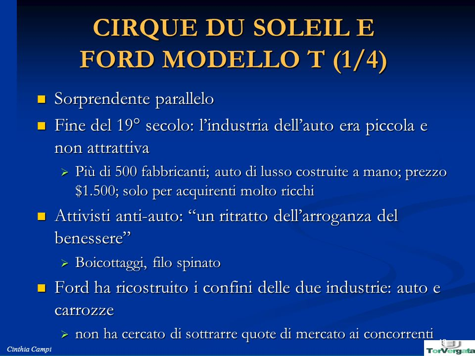 CIRQUE DU SOLEIL E FORD MODELLO T (1/4)