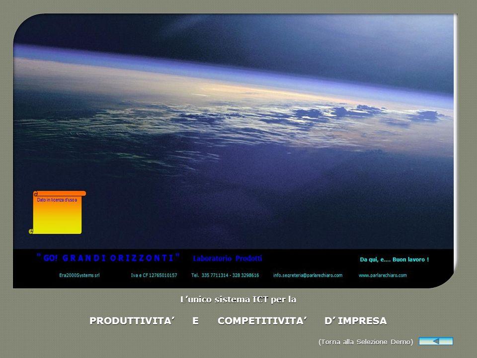 L'unico sistema ICT per la PRODUTTIVITA' E COMPETITIVITA' D' IMPRESA