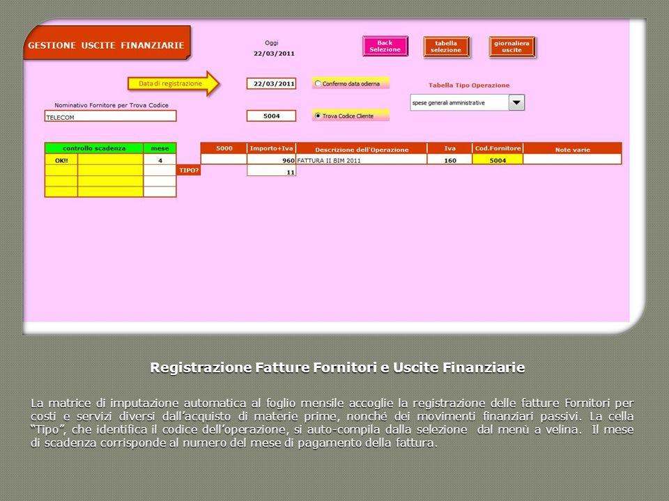 Registrazione Fatture Fornitori e Uscite Finanziarie