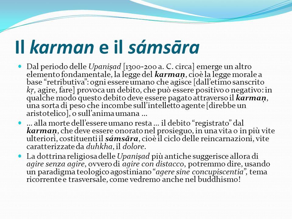 Il karman e il sámsāra