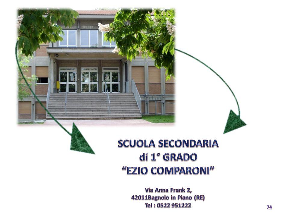 SCUOLA SECONDARIA di 1° GRADO EZIO COMPARONI Via Anna Frank 2, 42011Bagnolo in Piano (RE) Tel : 0522 951222