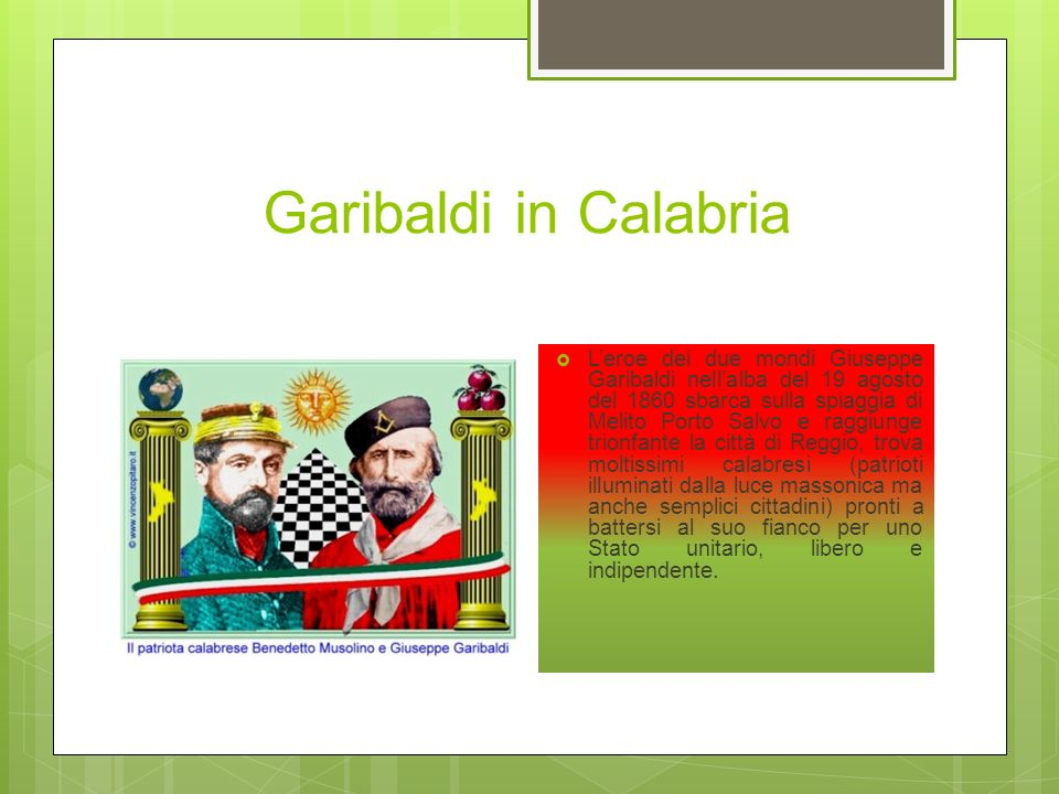 Garibaldi in Calabria