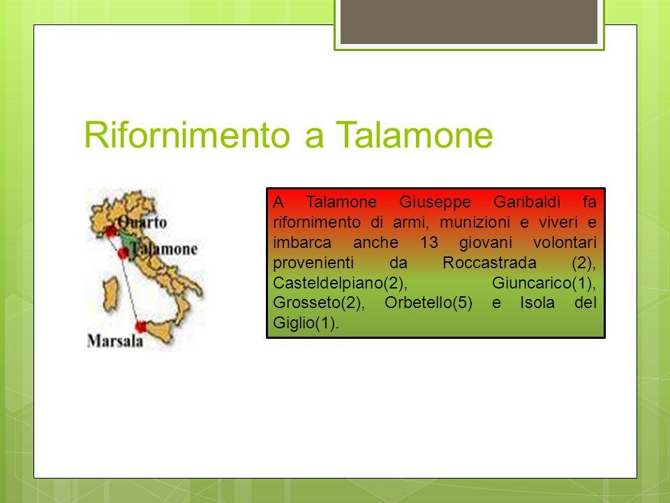Rifornimento a Talamone