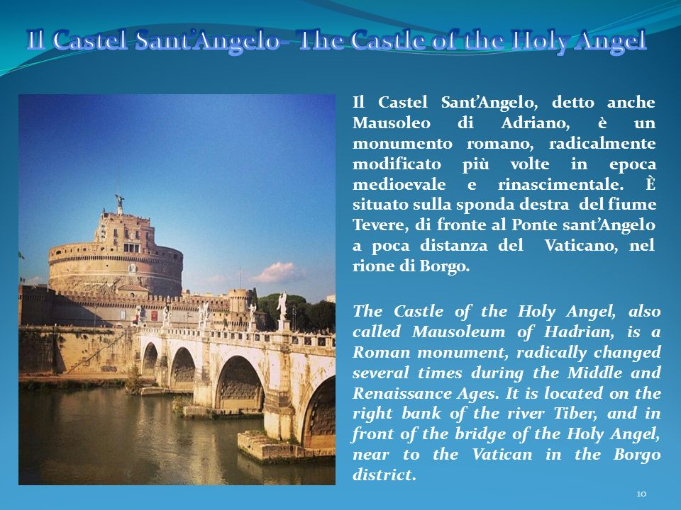 Il Castel Sant'Angelo- The Castle of the Holy Angel