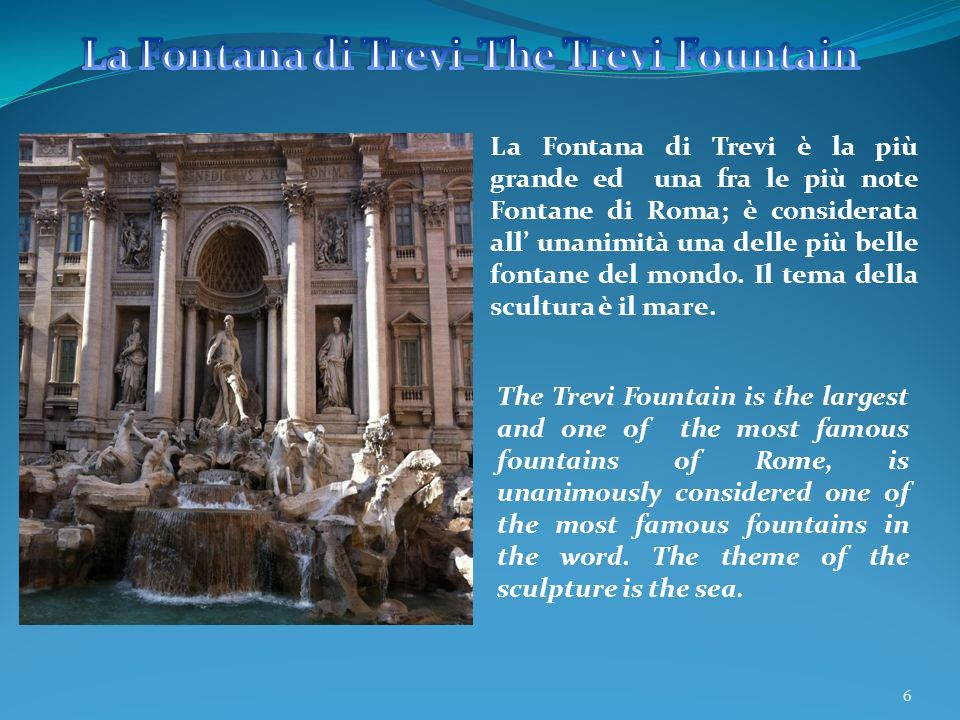 La Fontana di Trevi-The Trevi Fountain