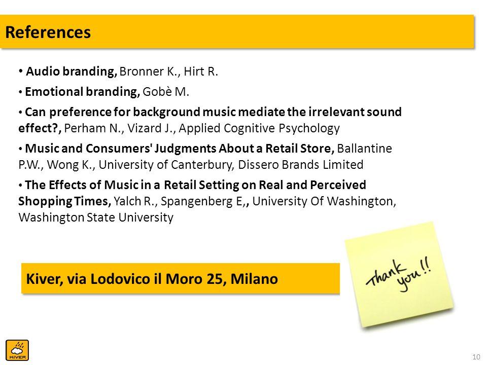 References Kiver, via Lodovico il Moro 25, Milano