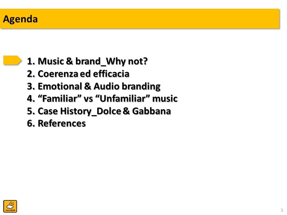 Agenda Music & brand_Why not Coerenza ed efficacia