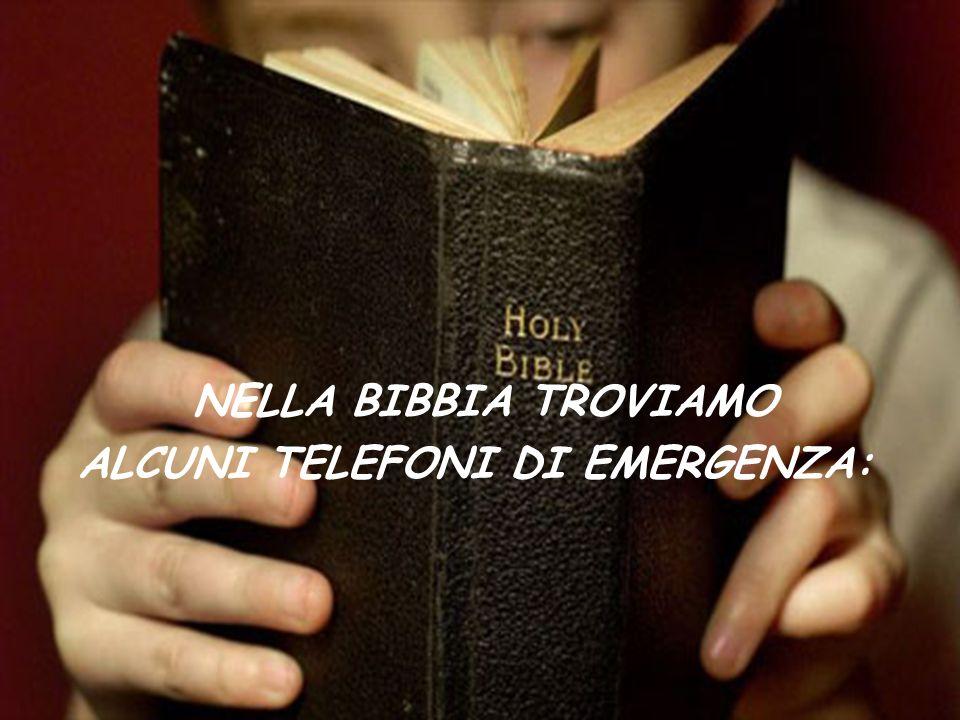 ALCUNI TELEFONI DI EMERGENZA: