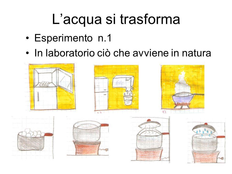 L'acqua si trasforma Esperimento n.1