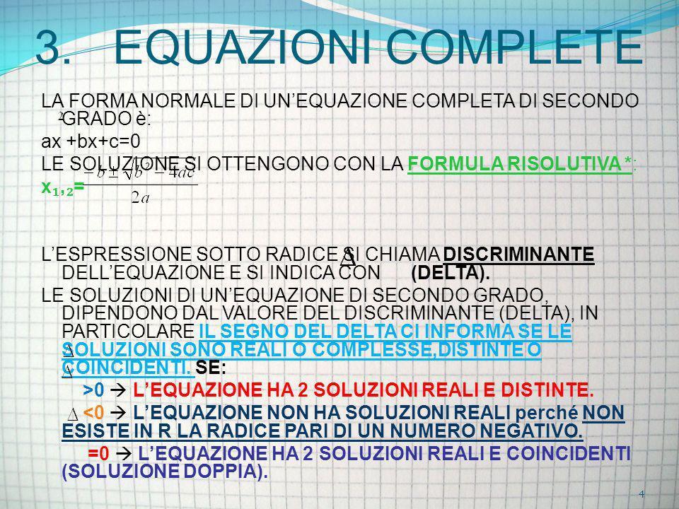 3. EQUAZIONI COMPLETE