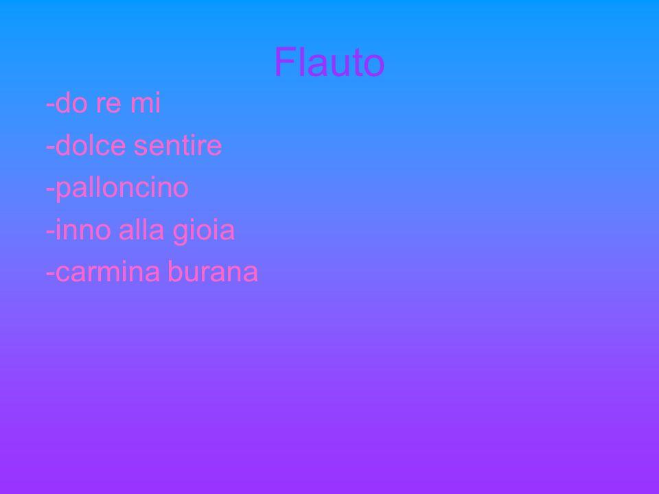 Flauto -do re mi -dolce sentire -palloncino -inno alla gioia