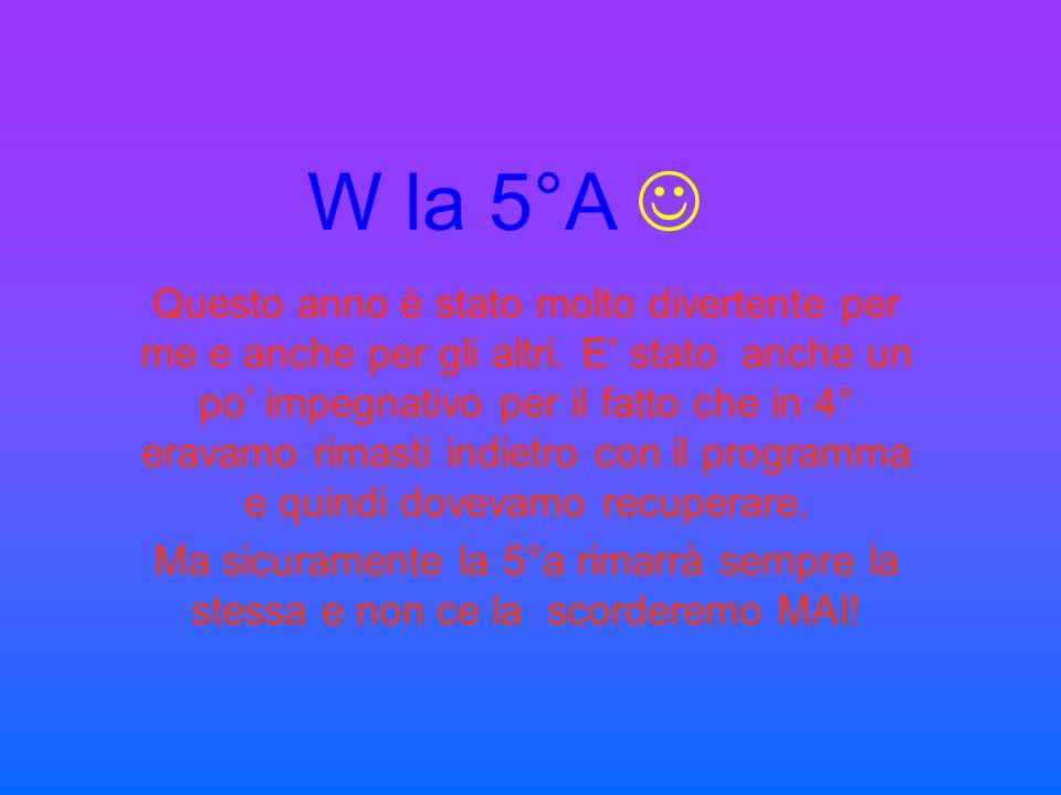 W la 5°A 