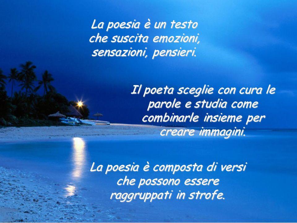 La poesia è un testo che suscita emozioni, sensazioni, pensieri.
