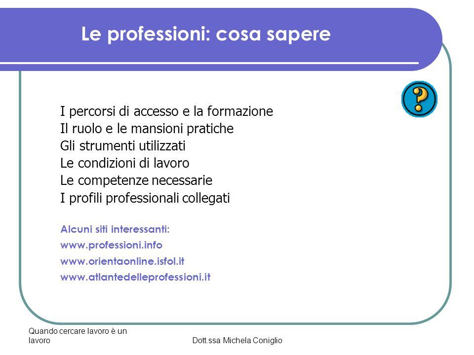 Le professioni: cosa sapere