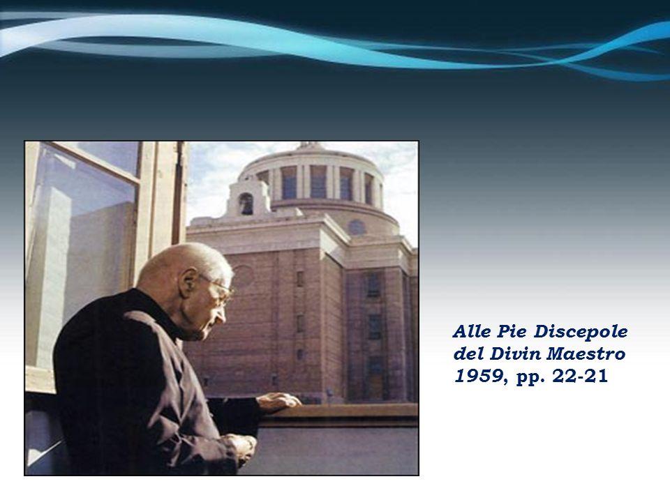 Alle Pie Discepole del Divin Maestro 1959, pp. 22-21
