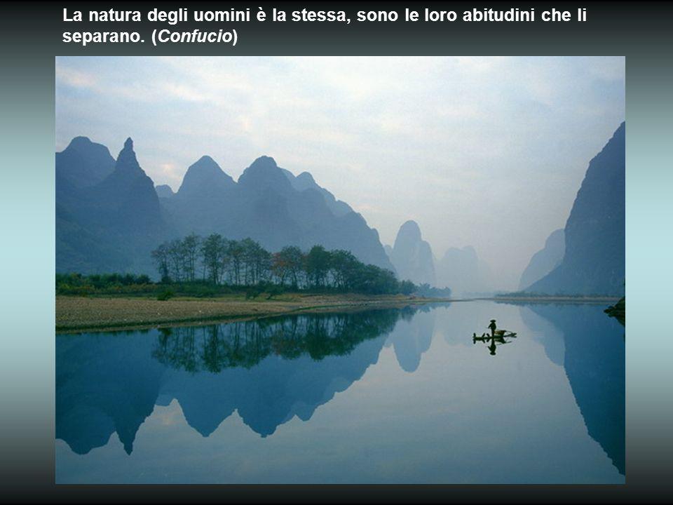 La natura degli uomini è la stessa, sono le loro abitudini che li separano. (Confucio)