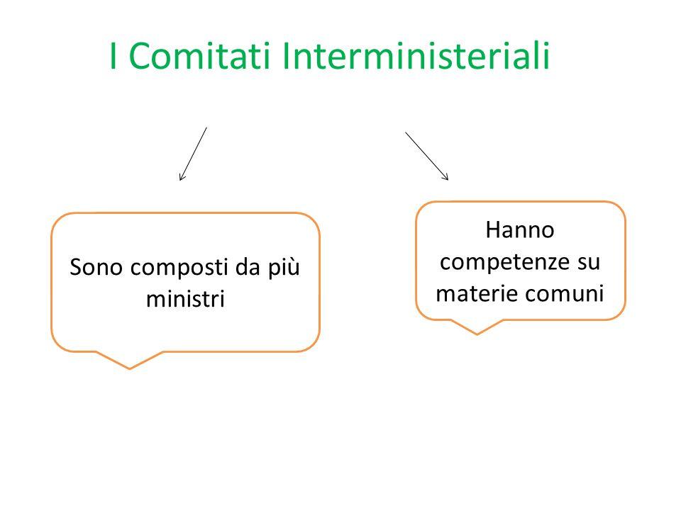 I Comitati Interministeriali