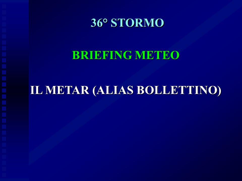 IL METAR (ALIAS BOLLETTINO)