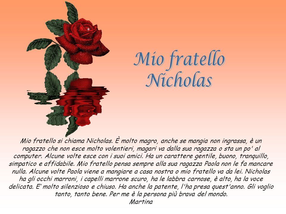 Mio fratello Nicholas.