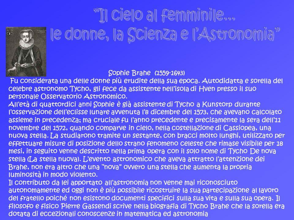 le donne, la Scienza e l'Astronomia