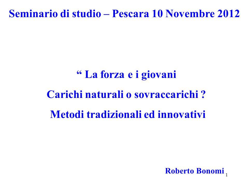 Seminario di studio – Pescara 10 Novembre 2012