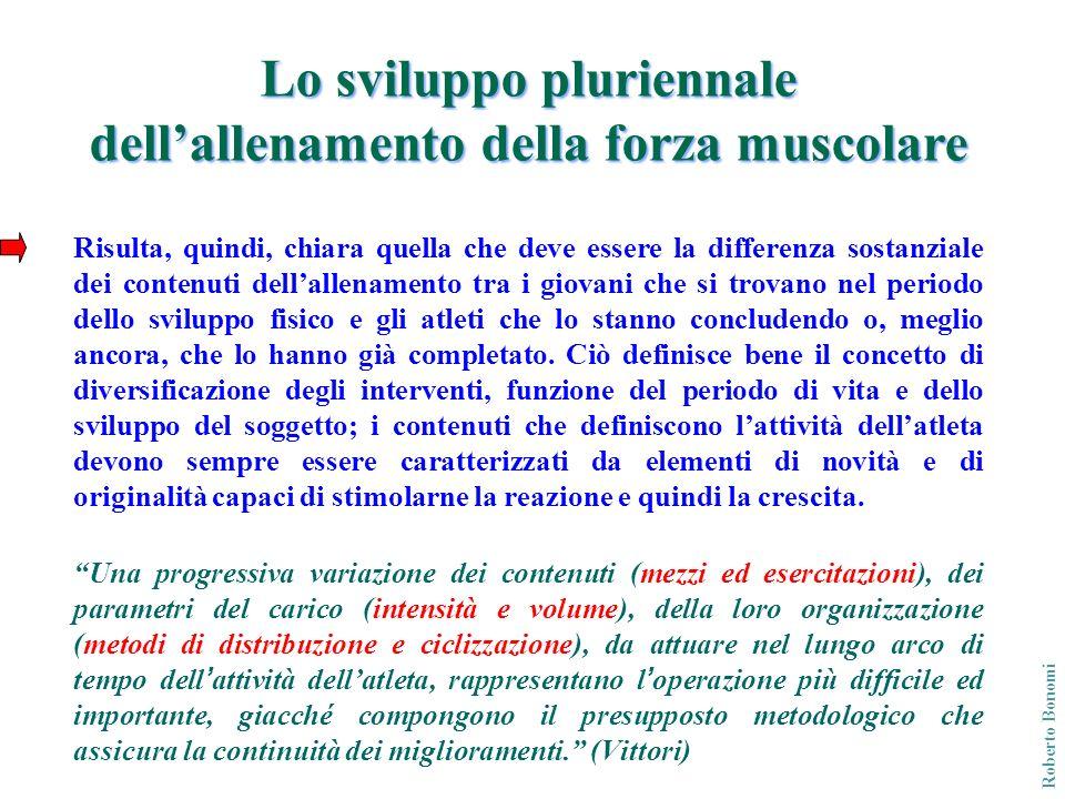 Lo sviluppo pluriennale dell'allenamento della forza muscolare