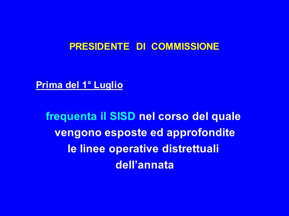 PRESIDENTE DI COMMISSIONE