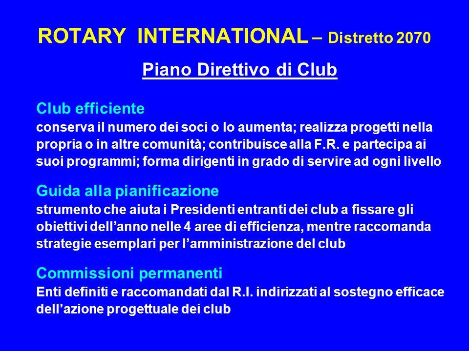 ROTARY INTERNATIONAL – Distretto 2070