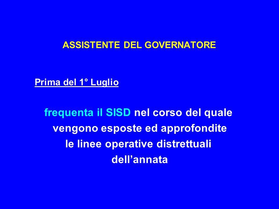 ASSISTENTE DEL GOVERNATORE