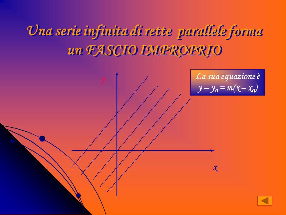 Una serie infinita di rette parallele forma un FASCIO IMPROPRIO