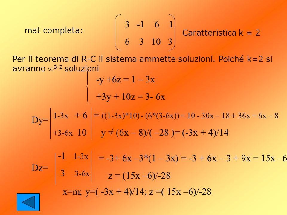 = ((1-3x)*10) - (6*(3-6x)) = 10 - 30x – 18 + 36x = 6x – 8