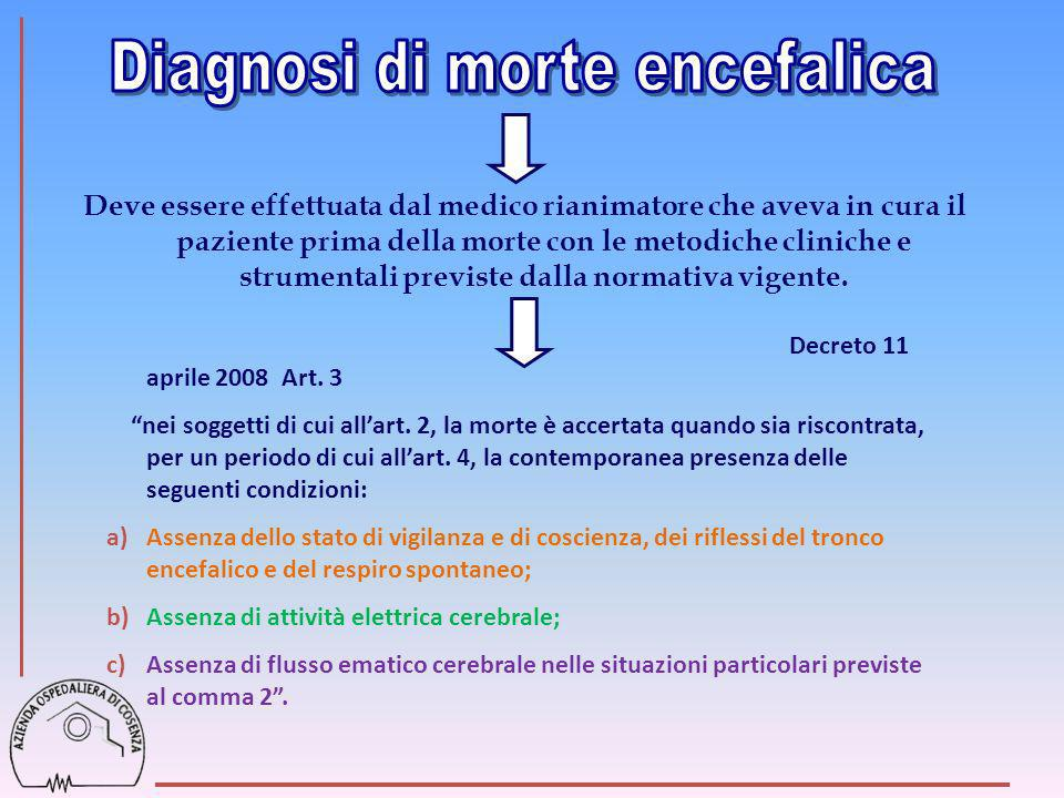 Diagnosi di morte encefalica