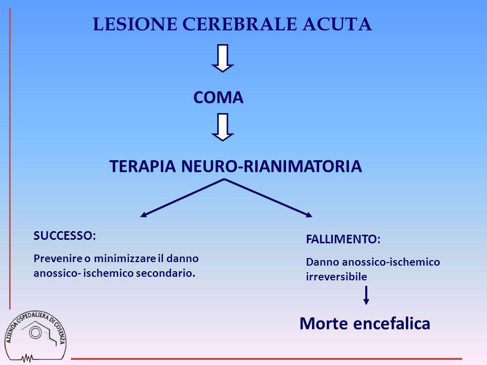 LESIONE CEREBRALE ACUTA TERAPIA NEURO-RIANIMATORIA
