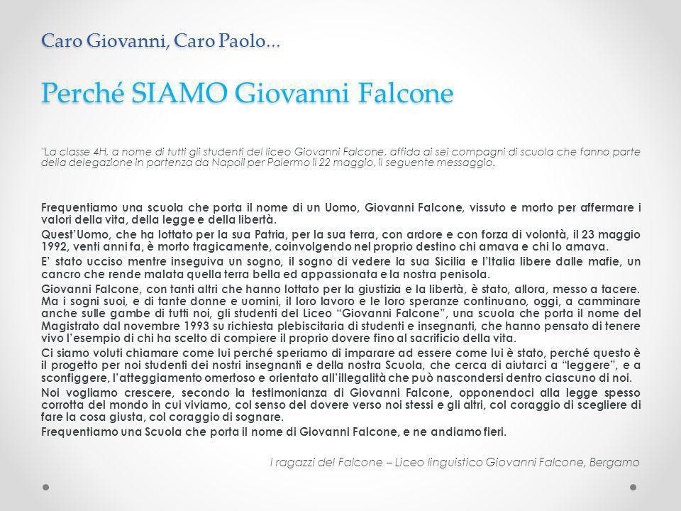 Perché SIAMO Giovanni Falcone